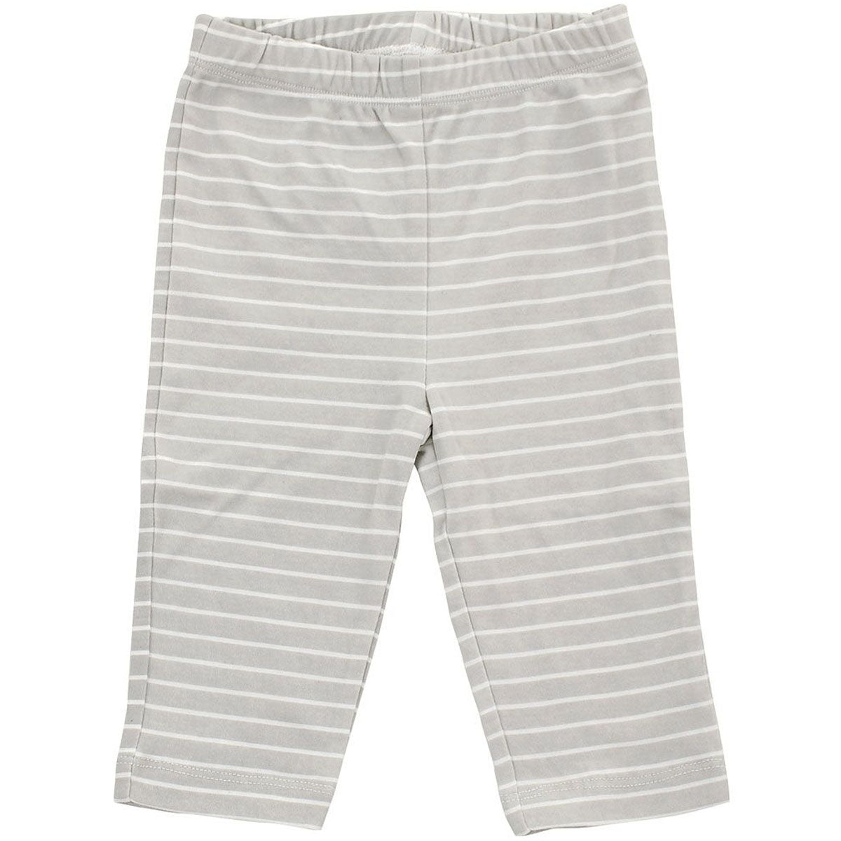 Silkberry Baby Organic Pullover Pants Silver Cloud Stripe