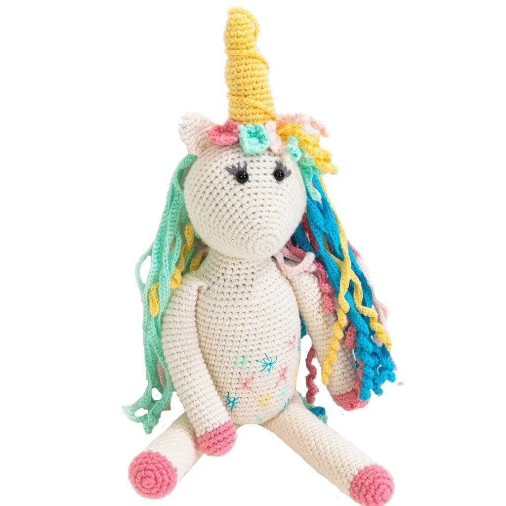 Bebemoss Organic Hand Knit Toy Rose the Unicorn