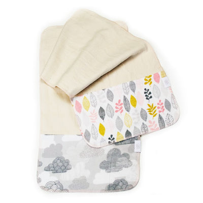 Logan + Lenora Organic Burp Cloth Set - Soft Fall