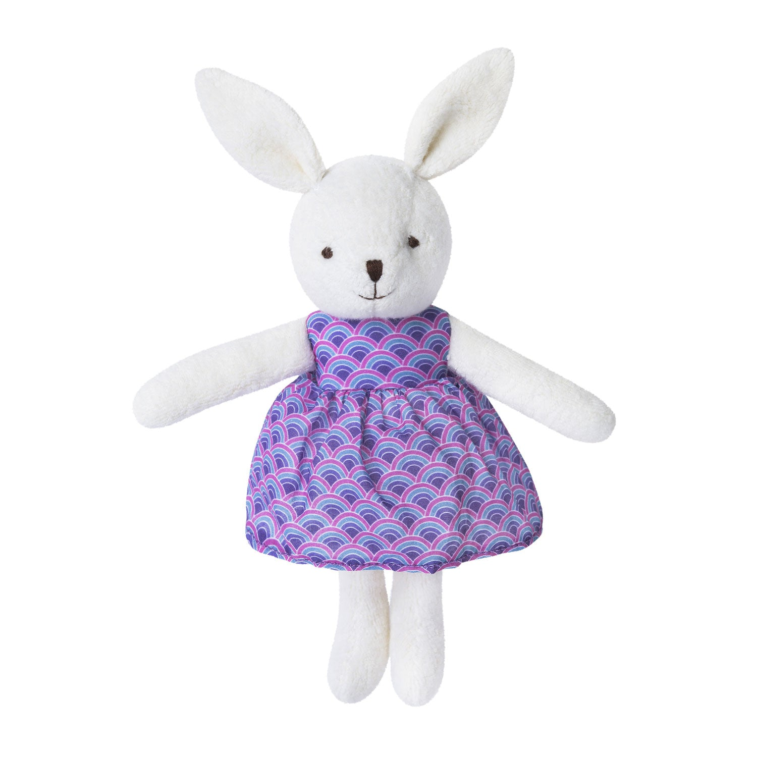 Apple Park Organic Little Plush Bunny White