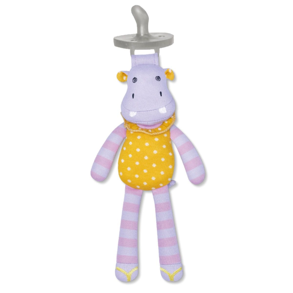 Apple Park Organic Pacifier Buddy - CoCo Hippo