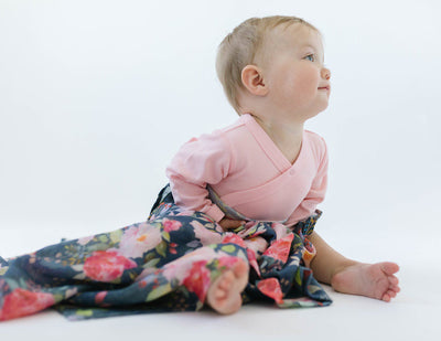 Loulou Lollipop Bamboo Muslin Swaddle Blanket Midnight Bloom