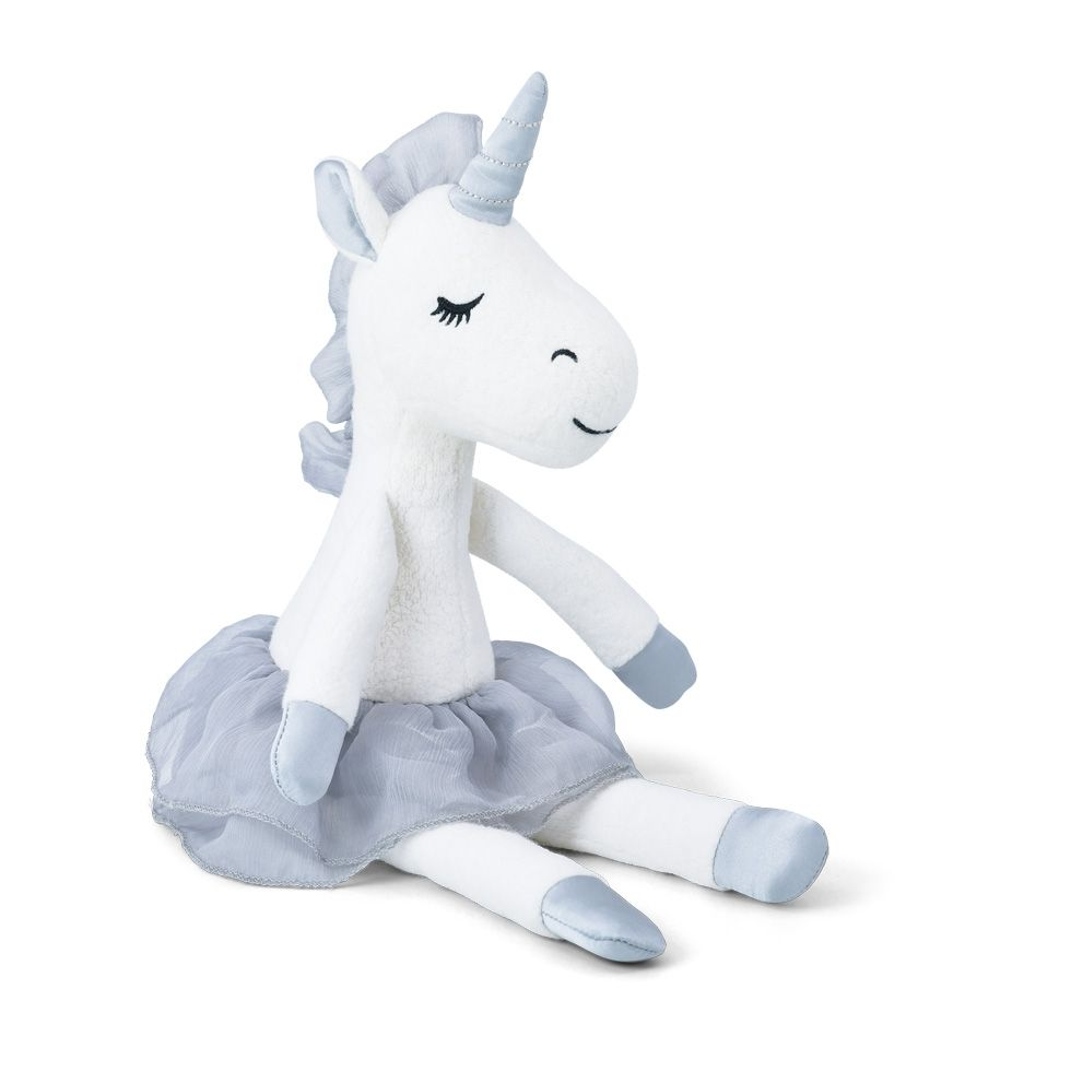 Apple Park Organic Unicorn Plush Toy – Grey