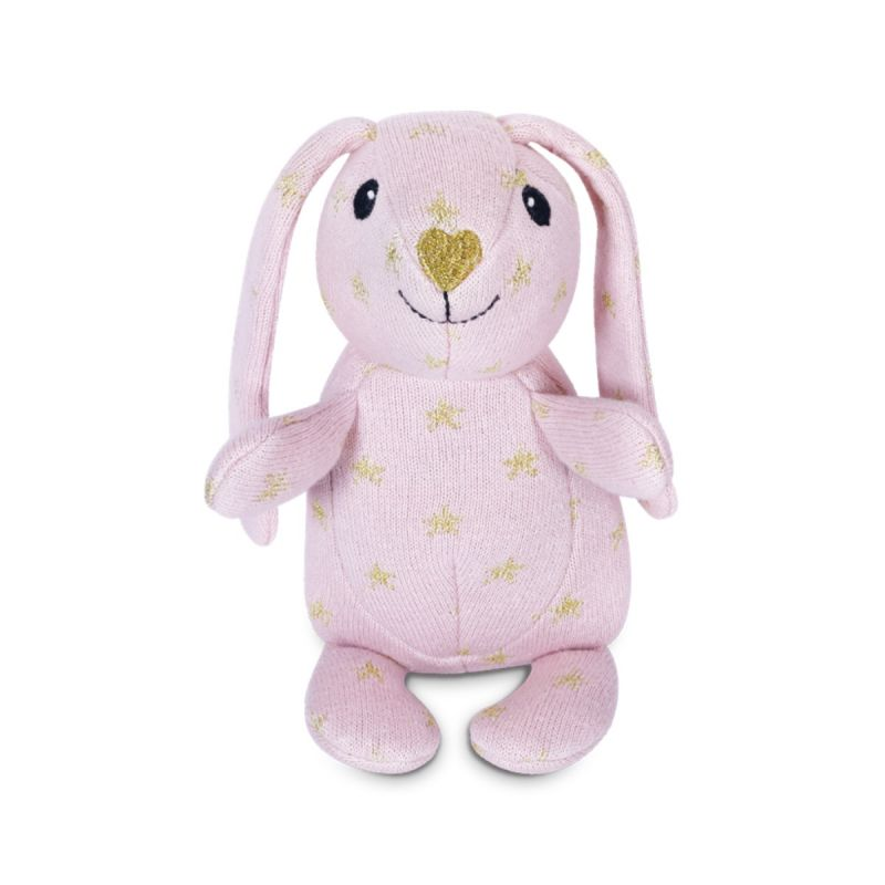 Apple Park Organic Knit Patterned Bunnies - Sparkle Bunny