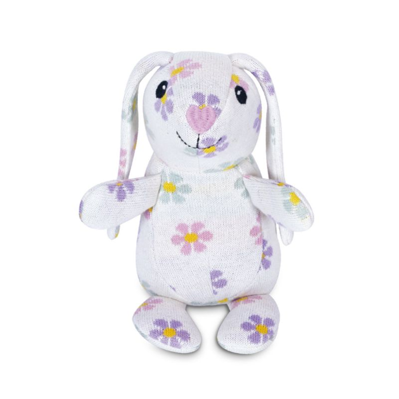 Apple Park Organic Knit Patterned Bunnies - Daisy Bunny