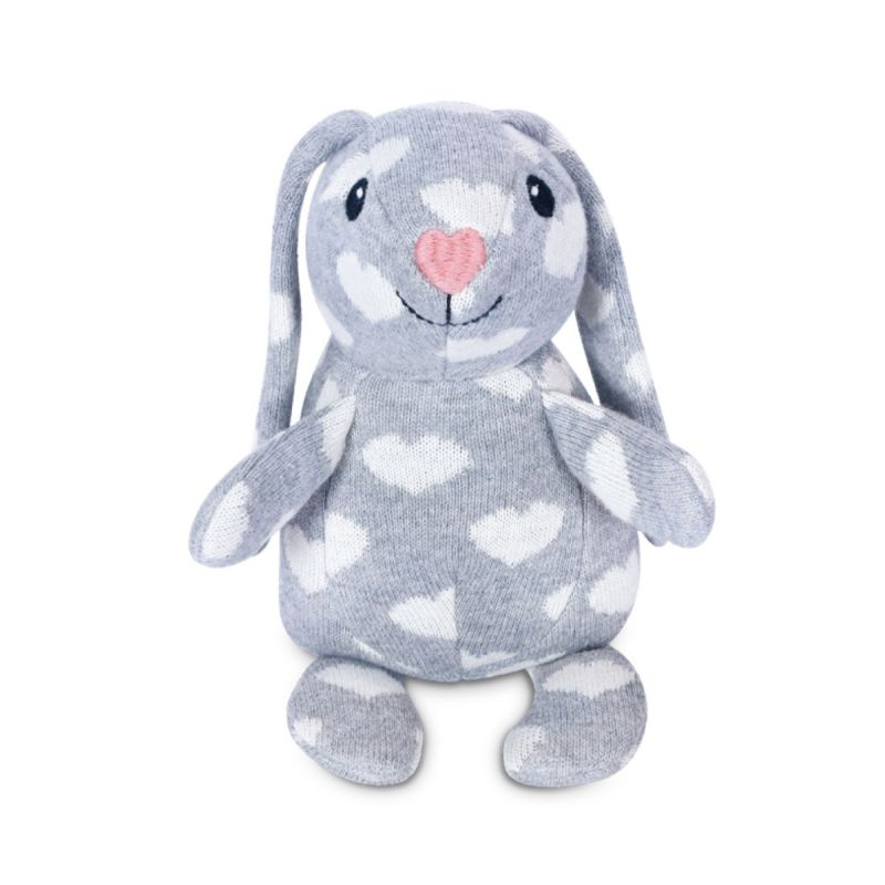 Apple Park Organic Knit Patterned Bunnies - Valentine Bunny