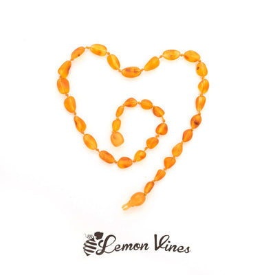 Lemon Vines Baby Amber Necklace - Unpolished Honey 11-12""