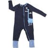 Silkberry Baby Bamboo Long Sleeve Romper w/ Two-way zipper - Indigo