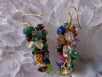 Multi Crystals Earrings