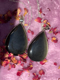 Golden Sheen Obsidian Oval Necklace