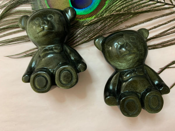 Golden Sheen Obsidian Bears