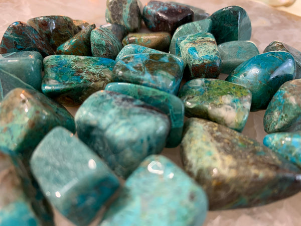 "Chrysocolla Grade ""A"" from Peru"