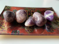 Banded Amethyst Tumbled Stone