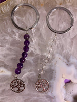 Tree of life Crystal Key Chain