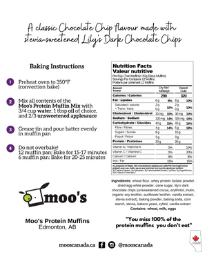 Moo's Chocolate Chip Protein Muffins