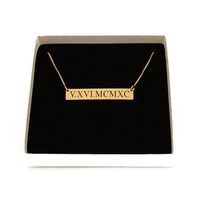 Roman Numeral Necklace