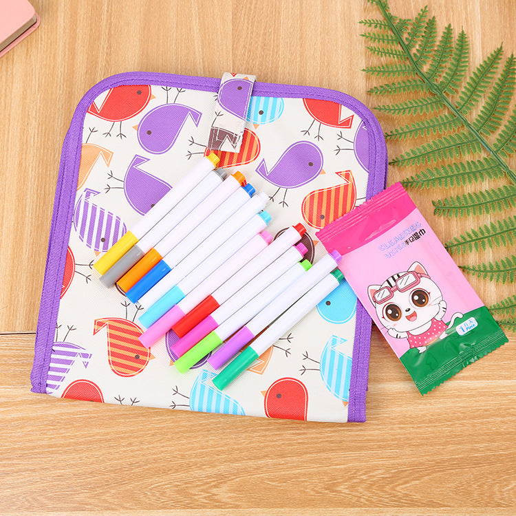 Children's Erasable Drawing Double-sided Small Blackboard Watercolor Strokes Board(BUY 1 GET 2ND 10% OFF)