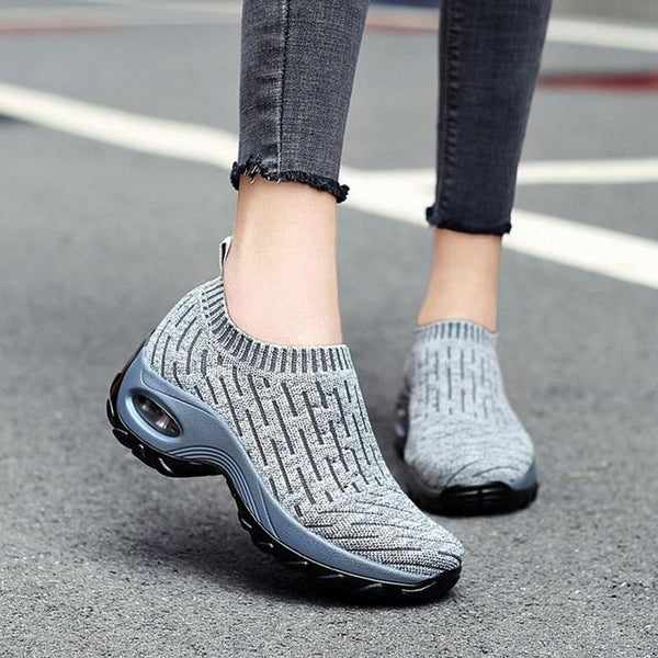 Women's Breathable Air Cushion Shock Sneakers