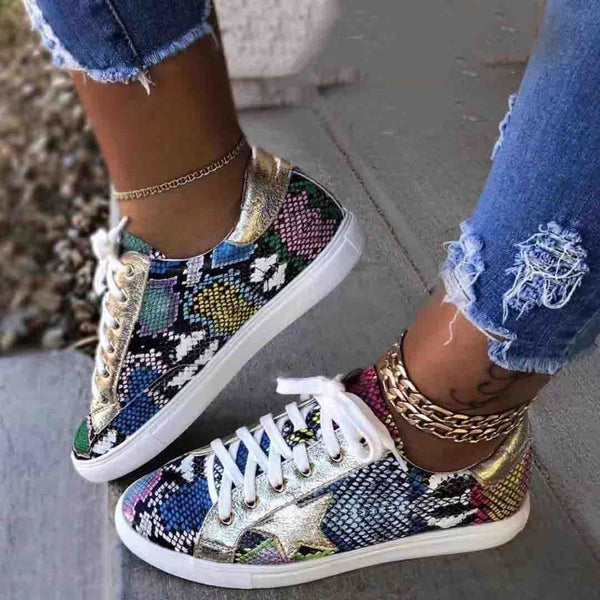Women's Plus Size Casual Autumn Sneakers