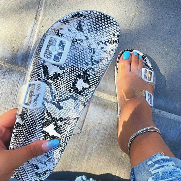 Slip-On Flat Beach Summer Slippers Footbed Sandals