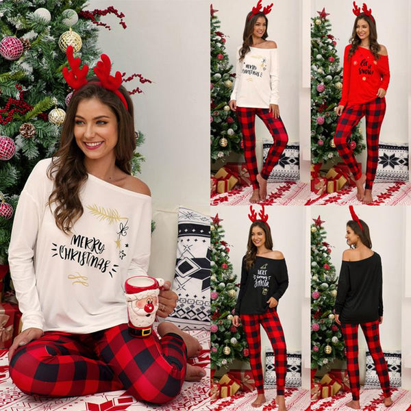 Women's Christmas Casual Pajamas Suit