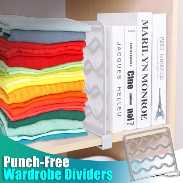 Punch-Free Wardrobe  Dividers Bookcase Dividers