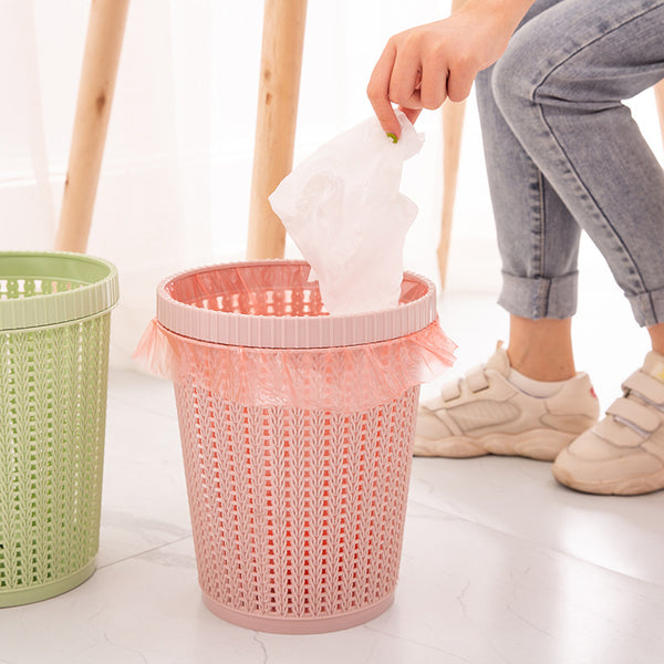 Waste Bins Hollow Trash Can Storage Bucket Holder