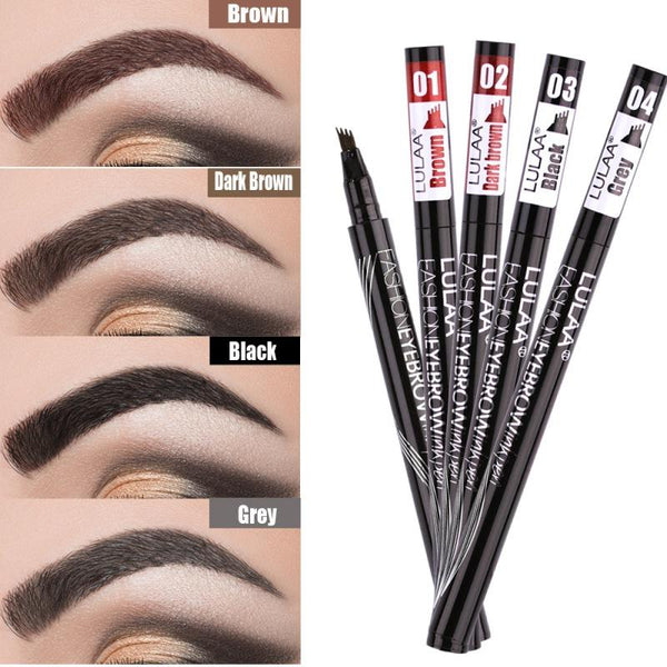 Liquid Eyebrow Easy to Wear Pen Long Lasting Waterproof Non-Dizzy Dyeing Eyebrow Pen
