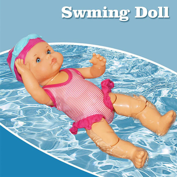 Kid Girls Waterproof Swimming Doll Electric Joint Movable Dolls