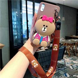 Cartoon Storage Phone Case For iPhone