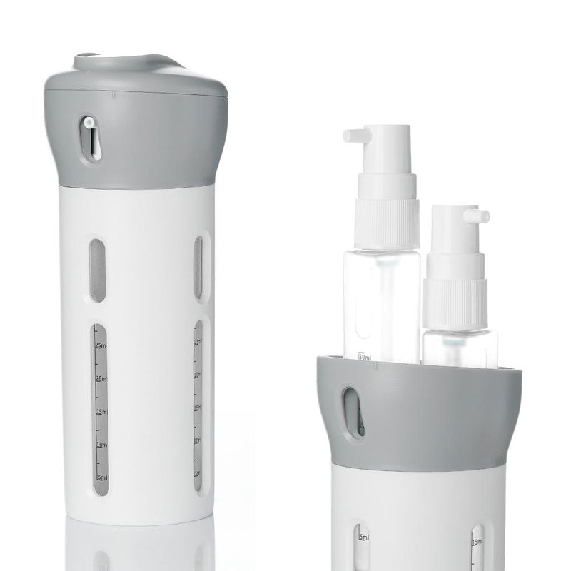 Travel Four-in-one Lotion Cosmetic Rotating Portable Sub-bottle Set(BUY 1 GET 2ND 10% OFF)