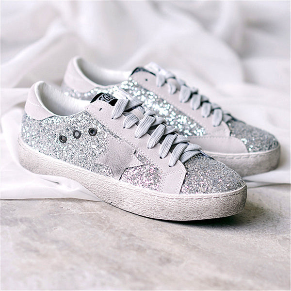 Casual Round Toe Flat Lace-up Sneakers