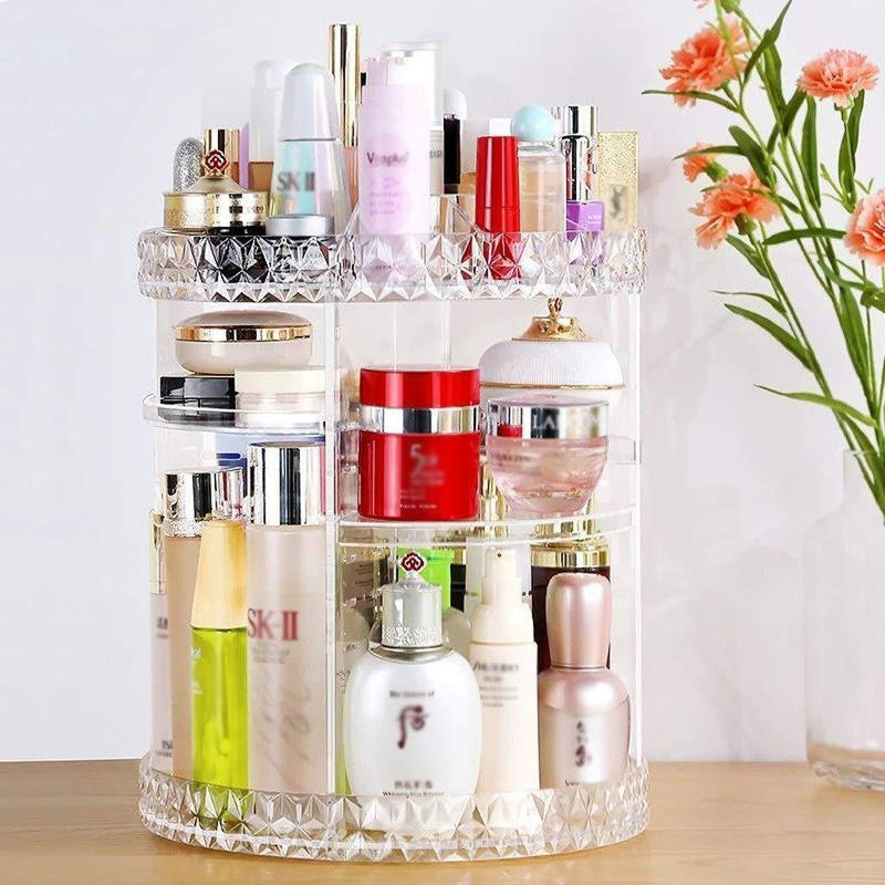 360° Rotating Crystal Cosmetic Storage Box(BUY 1 GET 2ND 10% OFF)