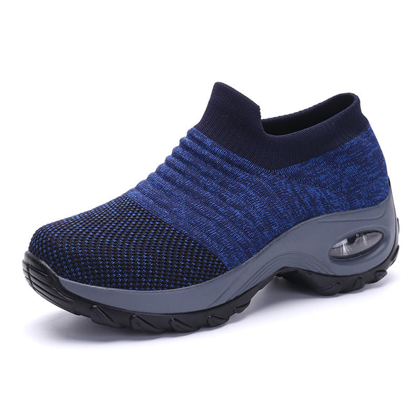 Women's Mesh Slip On Air Cushion Walking Shoes Sock Sneakers