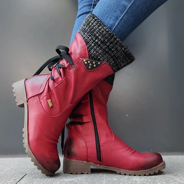 Winter Fashion Rear Strap Warm Boots
