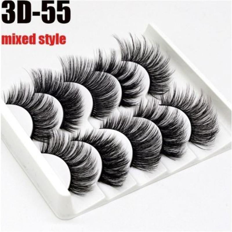 15 Pairs Different Styles 3D Handmade Mink Lashes False Eyelashes