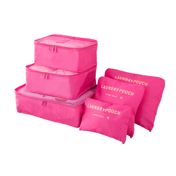 Waterproof Travel Bag Washing Makeup Portable Storage Bag Set 6 Pcs