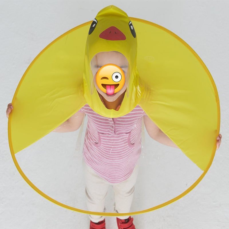 Children Rain-proof Folding UFO Rain Hat Raincoat