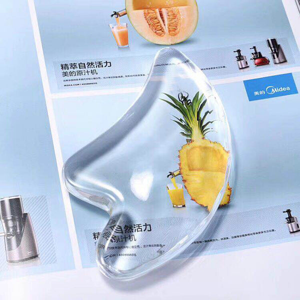 Facial Massage 3D Transparent Crystal Scraper