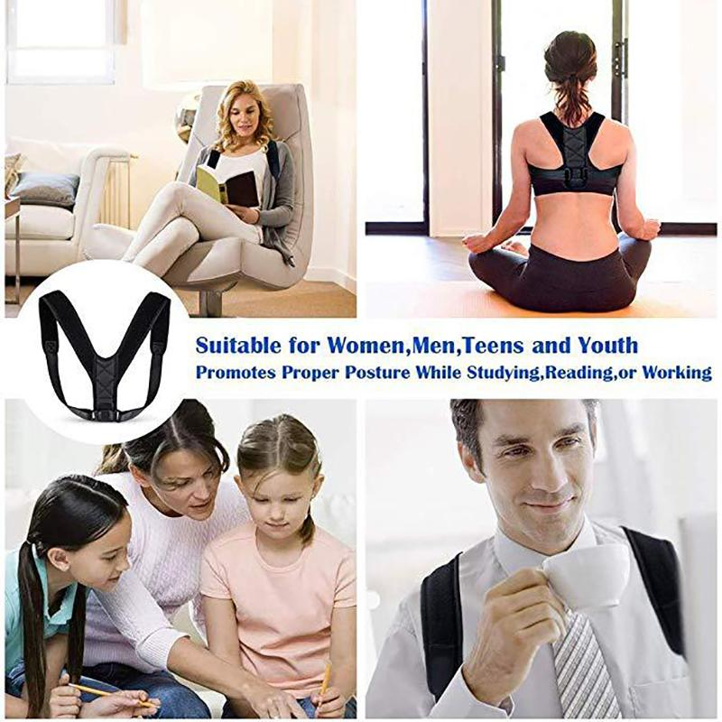 Adjustable breathable hunchback correction belt posture correction belt collarbone correction belt