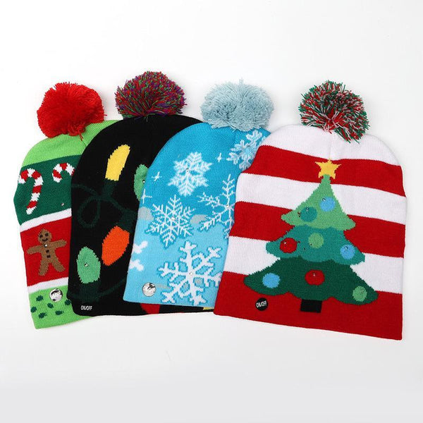 Christmas Decorations LED Lights Christmas Tree Adult Hat