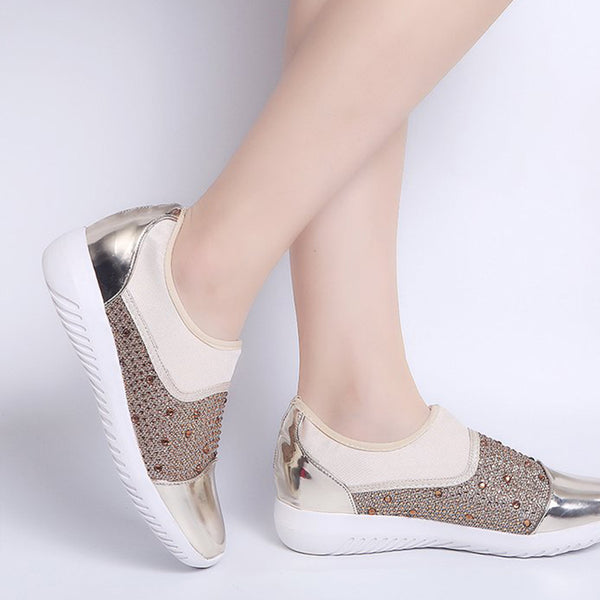 Women Casual Flat Slip On Sneakers