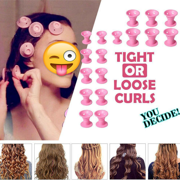 20PCS Heat-free Clipless Tight Hair Curlers
