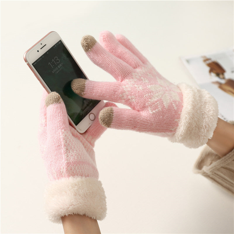 Christmas Holiday Winter Fleece Touchscreen Gloves(BUY 1 GET 2ND 10% OFF)