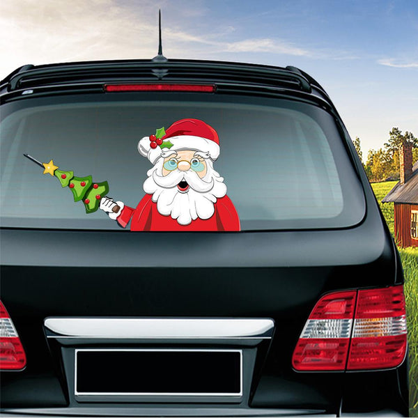 Christmas New Year Car Rear Window decoration decal sticker( BUY 1 GET 2ND 10% OFF )