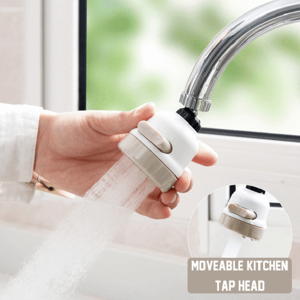 360 Degree Sink Aerator Head Faucet Shower Household Tap Water Kitchen Sprinkler Filter Water Saver