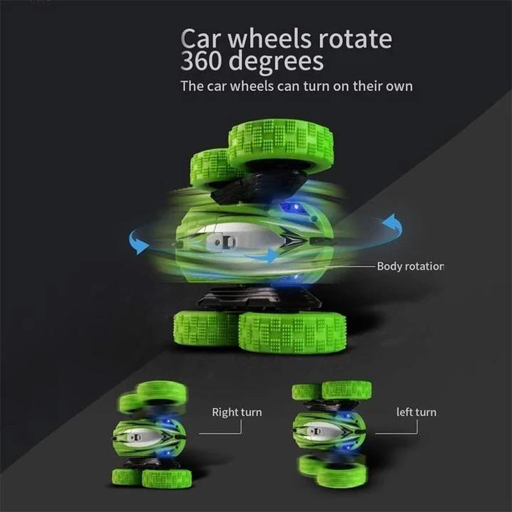 360 Degrees Rotating Double Sided RC Stunt Car with Light