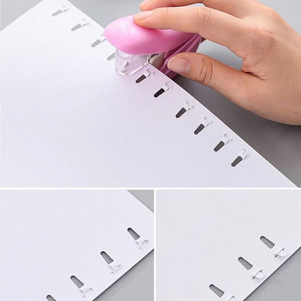 No Nails Stapling Machine Mini Cute Book Stapler