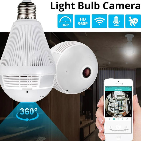 Wireless Panoramic Security Light Bulb