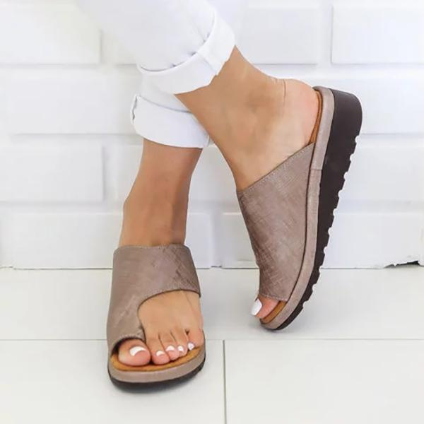 Simple Casual Platform Slippers